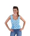 Oktoberfest tiroler shirt mouwloos blauw