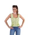 Oktoberfest tiroler shirt mouwloos groen