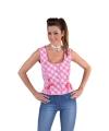 Oktoberfest tiroler shirt mouwloos roze
