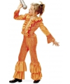 Oranje disco kostuum meisjes