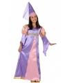 Paars middeleeuws prinses jurkje voor meisjes