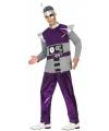 Paars robot kostuum voor heren