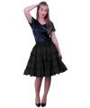 Petticoat 5 laags zwart