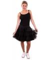 Petticoat voor dames zwart