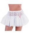 Petticoat wit kant voor dames