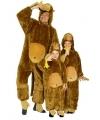 Pluche dieren onesie aap voor kids