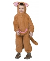 Pluche kangoeroe jumpsuit voor peuters