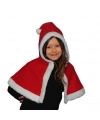 Pluche kerst cape voor meisjes