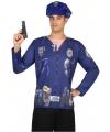 Politie verkleed shirt voor heren