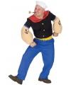 Popeye gespierd kostuum voor heren