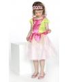 Prinses jurkje roze groen