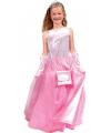 Prinsessen jurk lang roze voor meisjes