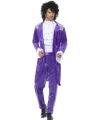 Purple popster kostuum voor heren
