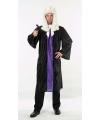 Rechter toga zwart en paars