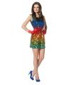 Regenboog pailletten jurkje
