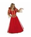 Rode koningin kostuum voor meisjes