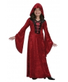 Rode meisjes vampieren jurk