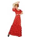 Rode spaanse jurk met stippen