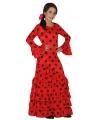 Rode spaanse jurk voor kinderen