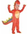 Rood dinosaurus kostuum voor kids