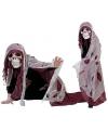 Rood doodshoofd spook kostuum