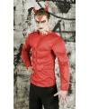 Rood duivel shirt met spieren