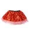 Rood lieveheersbeestje tutu rokje voor meisjes