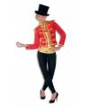Rood met gouden circus jasje voor dames