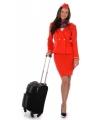 Rood stewardessen kostuum