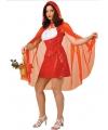 Roodkapje jurk met cape