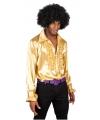 Rouche blouse goud voor heren