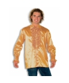 Rouche overhemd voor heren goud