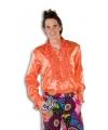 Rouche overhemd voor heren oranje