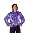 Rouche overhemd voor heren paars