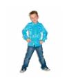 Rouches blouse blauw voor jongens