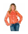 Rouches blouse oranje dames