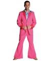 Roze 70 s kostuum voor heren