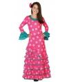 Roze flamenco jurk voor meiden