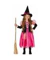 Roze heksen kostuum shiny witch voor meisjes