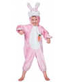 Roze konijnen pak voor kinderen