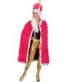 Roze mantel met muts voor dames