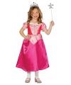 Roze prinsessenjurk met korte mouwen