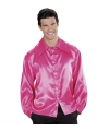 Roze satijnen blouse