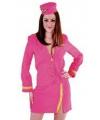 Roze stewardessen uniform