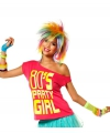 Roze t shirt 80s party girl