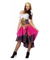 Roze zigeunerin kostuum voor dames