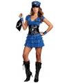 Sexy blauw politie kostuum voor dames