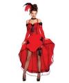 Sexy danseres kostuum rood