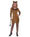 Sexy luipaard jurkje met staart