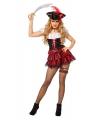 Sexy piraten jurkje zwart met rood